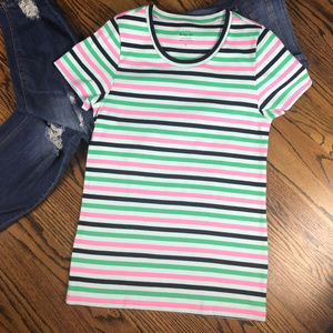 J. Crew Striped Perfect Fit T-Shirt Size Large